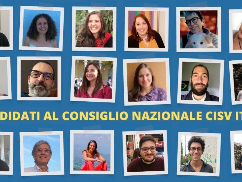 Candidati al Consiglio Nazionale Cisv Italia